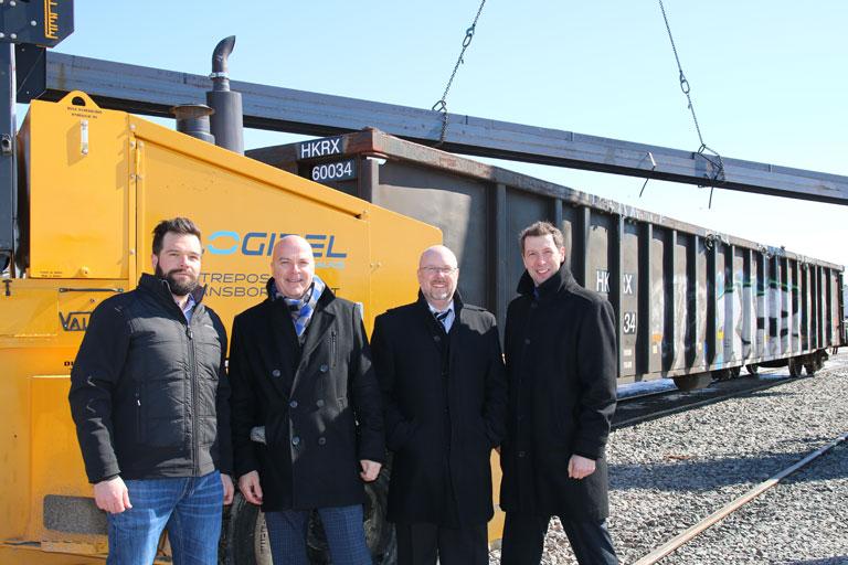 Les premiers wagons pour CANATAL arrivent à Scott
